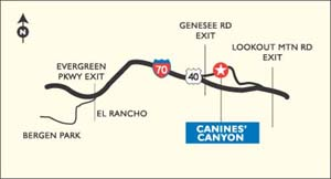 Map to Canines' Canyon